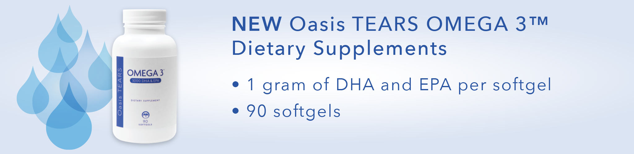 Oasis TEARS OMEGA 3 product banner