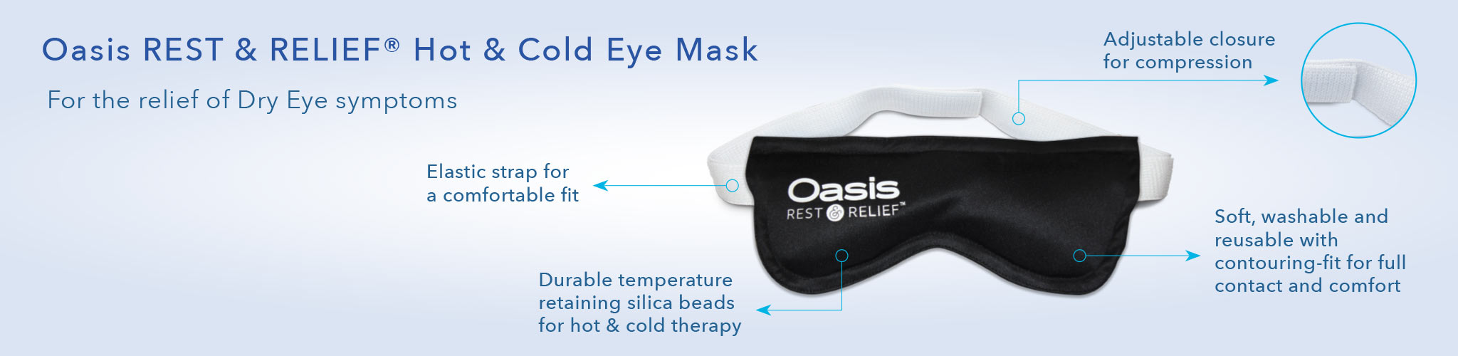Oasis REST & RELIEF product banner