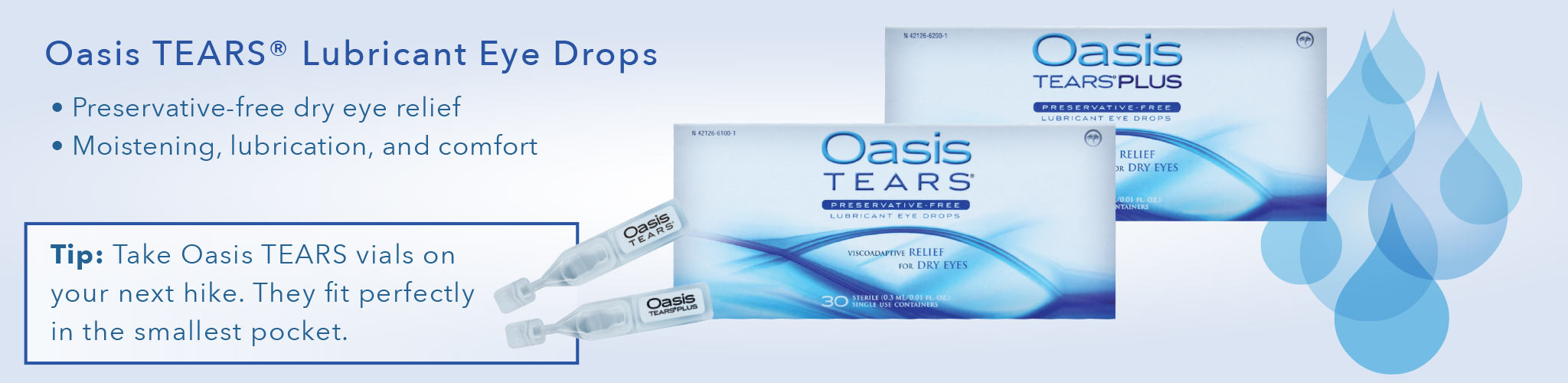 Oasis TEARS product banner